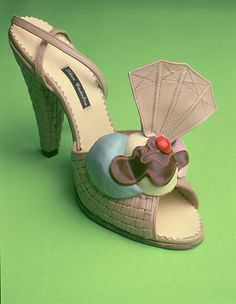 An ice-cream sundae sandal by Thea Cadabra from the late 70s