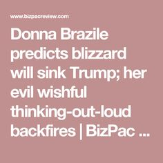 Donna Brazile predicts blizzard will sink Trump; her evil wishful thinking-out-loud backfires | BizPac Review