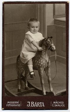 Rocking Horse Rider, Bohemia, Czechia, 1910,  by josefnovak33, via Flickr