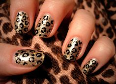 leopard, manicure, stylish, beautiful, fashion   Inspirational pictures