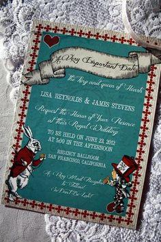 Alice In Wonderland Wedding Invitation Printable