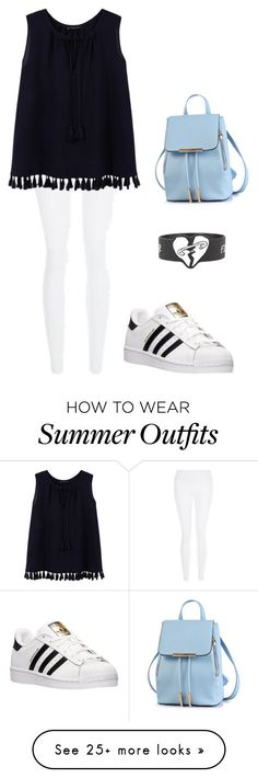 """""""My First Polyvore Outfit"""" by shekoooh777 on Polyvore featuring New Look, Violeta by Mango and adidas"""