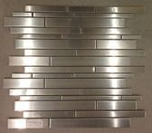 Check out our large selection of glass tile! Stainless Steel Mosaics new in stock! Mosaic Tiles, Mosaics, Stainless Backsplash, Stainless Steel, Stone, Glass, Kitchen, Mosaic Pieces, Rock