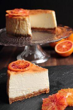 Baked Blood Orange Cheesecake.