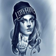 Chicano Style Tattoo, Chicano Tattoos, Body Art Tattoos, Sleeve Tattoos, Payasa Tattoo, Clown Tattoo, Tattoo Life, Girl Face Tattoo, Girl Face Drawing