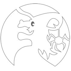 Moon Witch pumpkin carving pattern