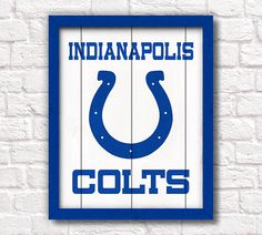 INDIANAPOLIS COLTS  rustic handmade painted by thePaintedLlama