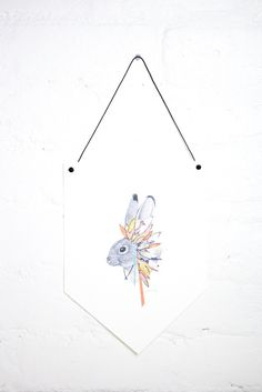 Rabbit With Feathers Headress No. 2