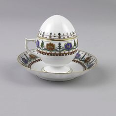 Custard Cup, Lid, And Saucer, 1900–10, Russia Retailed by Tiffany and Co., New York and manufactured by Kornilow Bros.
