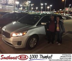 https://flic.kr/p/DjpDsE | Happy Anniversary to Kimberly on your #Kia #Sedona from Clinton Miller at Southwest Kia Mesquite! | deliverymaxx.com/DealerReviews.aspx?DealerCode=VNDX
