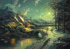 Thomas Kinkade - Christmas Moonlight  2006
