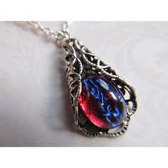 Dragons Breath Opal Necklace Art Nouveau Necklace Mexican Fire Opal... ($49) ❤ liked on Polyvore featuring jewelry, necklaces, fire opal jewelry, filigree necklace, opal jewelry, fire opal jewellery and filigree jewelry