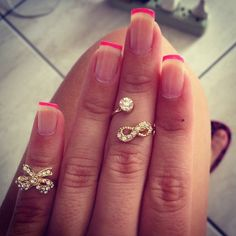 The most precious rings at the tips of your fingers. Way adorable!
