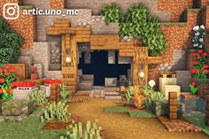 Here's a simple mine entrance for your town! What do you think?: Minecraftbuilds Casa Medieval Minecraft, Minecraft House Plans, Minecraft Farm, Minecraft Cottage, Cute Minecraft Houses, Minecraft House Tutorials, Minecraft Castle, Minecraft House Designs, Amazing Minecraft