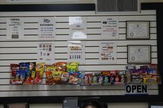 snacks at the service desk