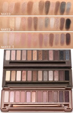 SWATCHES :: ALL 3 Naked Palettes w/ comparison swatches & links to individual reviews from #frmheadtotoe