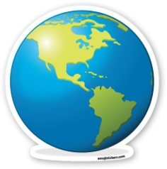 Earth Globe Americas | Emoji Stickers Emoji Stickers, Tumblr Stickers, Laptop Stickers, Silhouettes, Scrapbook Embellishments, Aesthetic Stickers, Transparent Stickers, Mobile Wallpaper, Stickers