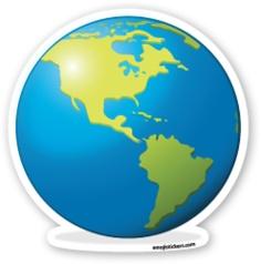 Earth Globe Americas | Emoji Stickers