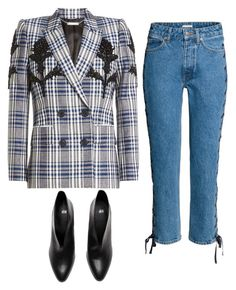 """""""Untitled #1004"""" by sarabutterfly ❤ liked on Polyvore featuring Alexander McQueen and plaidcoats"""