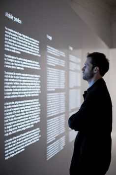 Projected Text, OperaLab Exhibition, Bridge.