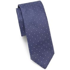 HUGO BOSS Dotted Silk Tie (225 BRL) ❤ liked on Polyvore featuring men's fashion, men's accessories, men's neckwear, ties, mens polka dot ties, men's silk ties and mens ties