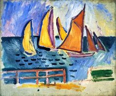 Departure of the Regattas at Le Havre Raoul Dufy - 1906