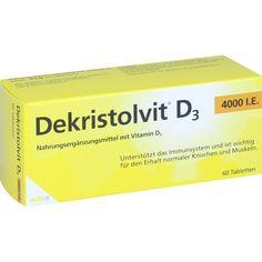 DEKRISTOLVIT D3 4.000 I.E. Tabletten:   Packungsinhalt: 60 St Tabletten PZN: 10818581 Hersteller: MIBE GmbH Arzneimittel Preis: 10,25 EUR…