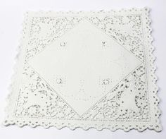 100 Square Paper Doilies - 10 inch, white - envelope ready - basket style on Etsy, $30.00