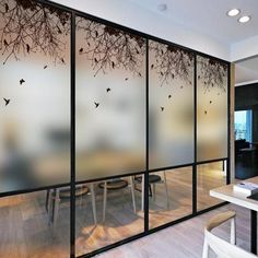 Art Stained Glass Stickers For Windows Decorative Film Frosted Opaque Privacy Window Film For Living Room Bathroom Glass Film Design, Window Glass Design, Glass Partition Designs, Frosted Glass Design, Frosted Glass Window, Stained Glass Window Film, Door Design, Glass Door, Etched Glass Windows