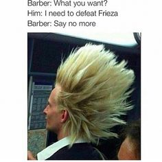 vegeta couldn't tho, he started crying << bitch he was busy dying XD Manga Anime, Anime Hair, Memes Gratis, Dbz Memes, Funny Memes, Dragon Ball Z, Make Me Smile, Fangirl, Funny Pictures