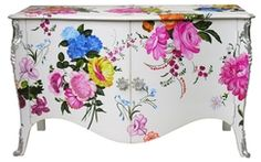 L.XV Chest of drawers hand painted - Moissonnier