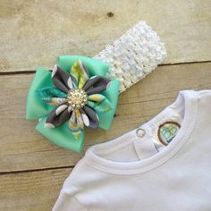 Baby Layette Set Baby Gown Set Green with by TwoSewinCute on Etsy