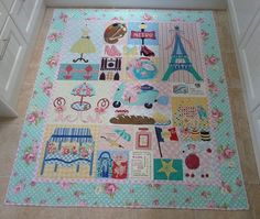 Paris quilt - my version of Verna Mosquera's Mon Ami quilt. I swapped out some of her blocks for some I designed myself.
