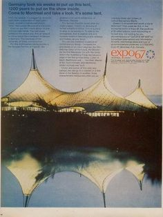 "German Pavilion ""Expo '67"" in Montreal, (1965-1967) 