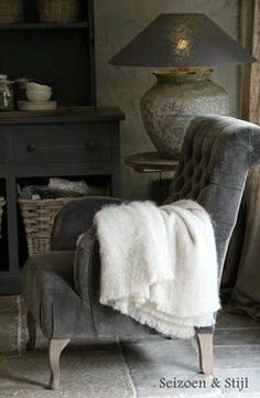 Soft Scandinavian furnishing ideas - in grey and white for an ultra cosy feel in the living room.