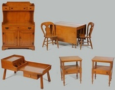 Willett Maple Furniture | Furniture: Suite-Dining; Willett Furniture Co, Maple, 9 Pieces.