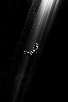 """""""Out of Darkness""""  It takes courage to go deep inside the dark areas of ourselves, to explore them and confront our own fears. It´s not easy, and we are alone there, but that is a journey we have to make if we want to be free and experience the light...of love"""