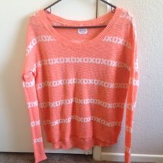 Pink XO Sweater Pink sweater, XO detail PacSun Sweaters Crew & Scoop Necks