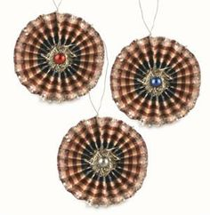 4th of July Feather Tree Ornaments | Americana Rosette Ornaments