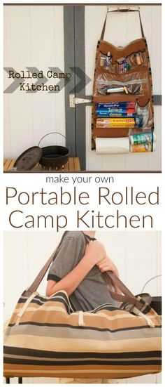 DIY Camping Hacks - Rolled Camp Kitchen - Easy Tips and Tricks, Recipes for Camping - Gear Ideas, Cheap Camping Supplies, Tutorials for Making Quick Camping Survival, Camping Hacks, Camping Bedarf, Camping Supplies, Camping Checklist, Camping Essentials, Camping With Kids, Family Camping, Outdoor Camping