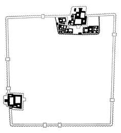 Khorsabad, Plan, Iraq, Late 8th Century B.C.