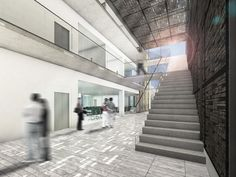 stairs of New building carmen alto modern building architectural designs