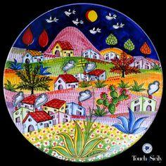 italian ceramics - Decorative Plate Landscape - $615.00