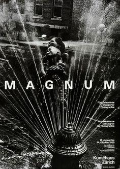 Werner Jeker – Magnum, poster for the Kunsthaus Zürich, 1990