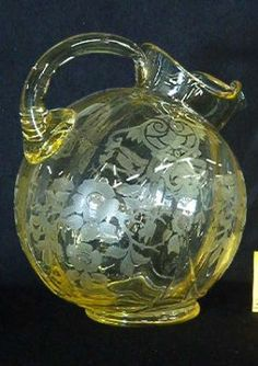 Yellow Apple Blossom Large Ball Pitcher Cambridge