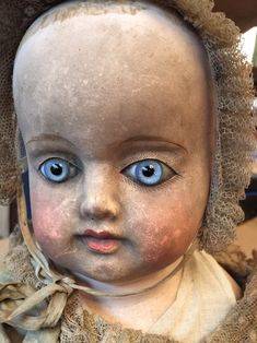 An Interesting Paper Mache Early Bebe - Castellidoll