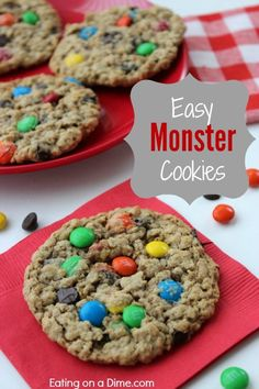 Quick and Easy Monster Cookies - next time you need cookies, make sure you make these delicious cookies for your family.