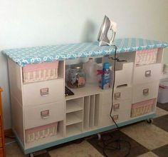 For my sewing room. Using Recollection units from Michael's
