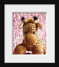 Pink Baby Girl Nursery Cuddles Giraffe by CrystalGaylePhoto, $30.00