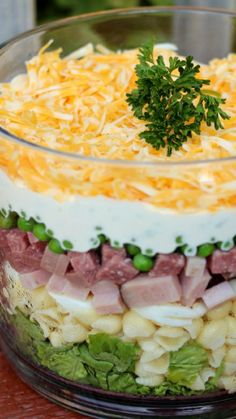 Layered Pasta Salad Recipe ~ This salad can be made a day ahead or in the morning, as long as it has several hours in the refrigerator. Healthy Pasta Salad, Summer Pasta Salad, Healthy Pastas, Pasta Salad Recipes, Summer Salads, Shell Pasta Salads, Pasta Shells, Salad Bar, Soup And Salad